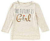 Copper Key Little Girls 4-6X Floral High-Low Tee