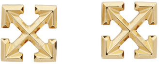 Off-White Off White Gold Small Arrows Earrings