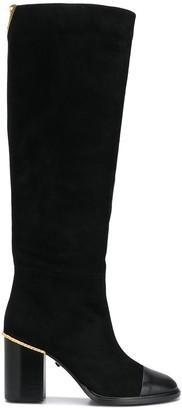Grey Mer Metal-Heel Counter Knee Boots