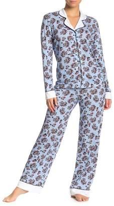 Cosabella Isabelle Cat Flower Print Pajama Pants