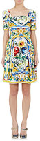 Dolce & Gabbana Women's Floral Fit & Flare Dress-WHITE, NO COLOR