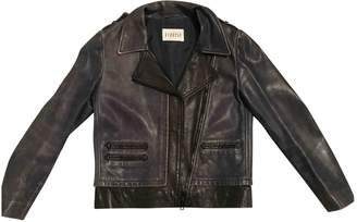 Claudie Pierlot Navy Leather Jackets