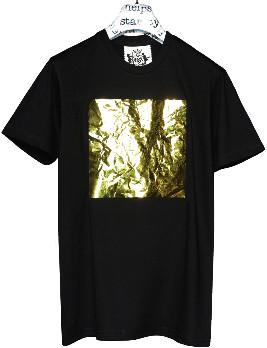 starstyling - Black Gold Mirror Big Square T Shirt - XS - Black/Gold