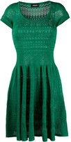 DSQUARED2 scoop neck pointelle-knit A-line dress