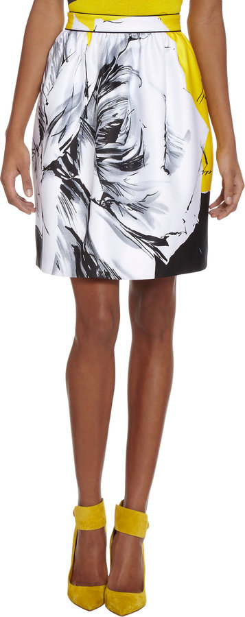 Prabal Gurung Floral-Print Skirt
