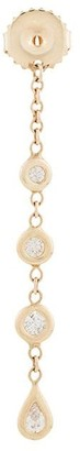 Jacquie Aiche 14kt yellow gold 3+1 Diamond Teardrop earring back