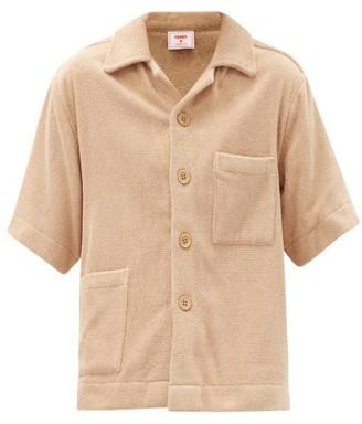 Terry. Boxy Cotton toweling Shirt - Tan