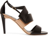 Jimmy Choo Trapeze patent-leather and leather sandals