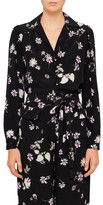 Valentino L/S Black Floral Printed Button Up Shirt