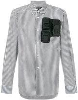 Comme des Garcons car molds applique striped shirt