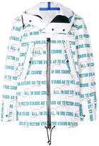 Sacai Vector print raincoat