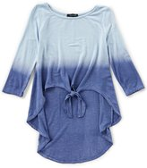Takara Big Girls 7-16 Dip-Dye Knot Top