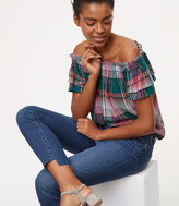 LOFT Modern Step Hem Skinny Jeans in Pure Dark Indigo Wash