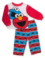 Sesame Street 2-Piece Elmo and Cookie Monster Fleece Pajama Set