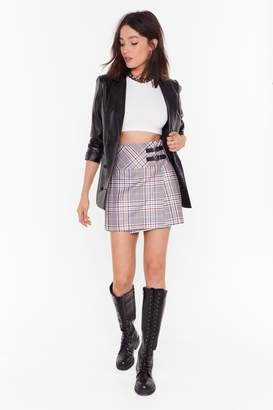 Nasty Gal Womens The Best You Ever Had Tartan Mini Skirt - grey - 10