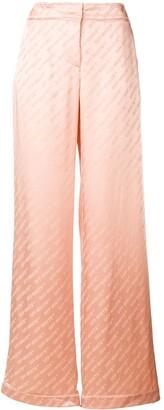 Off-White Monogram Print Trousers