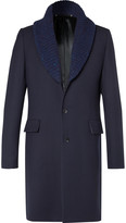 Paul Smith Ribbed Shawl-Collar Wool Overcoat