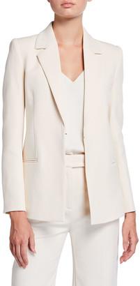 Victoria Victoria Beckham Strong-Shoulder Hook-Front Jacket
