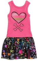Amy Coe Infant Girls' Ribbed Studded Tank & Print Skirt Set - Sizes 12-24 Months