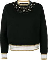 Fendi embellished sweatshirt - women - Silk/Cotton/Polyamide/plastic - 42