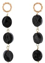 Dominique Cohen 18K Black Tourmaline Drop Earrings