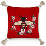 Gucci Velvet cushion with bee embroidery