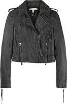 Twenty8twelve Cropped Leather Biker Jacket