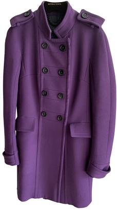 Burberry Purple Wool Coat for Women