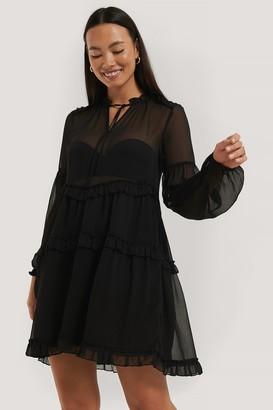 NA-KD Ruffle Chiffon Dress