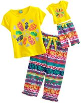 "Dollie & Me rock and roll"" pajama set - girls 4-12"