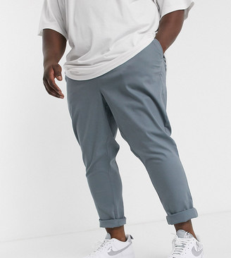 Asos Design DESIGN Plus tapered chinos in washed blue