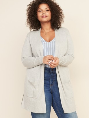 Old Navy Long-Line Plus-Size Open-Front Sweater