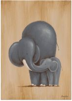 Oopsy Daisy Fine Art For Kids Safari Kisses Elephant Canvas Wall Art