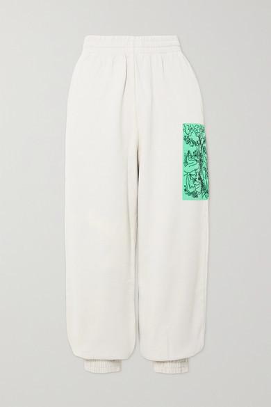 McQ True Appliqued Cotton-jersey Track Pants - White