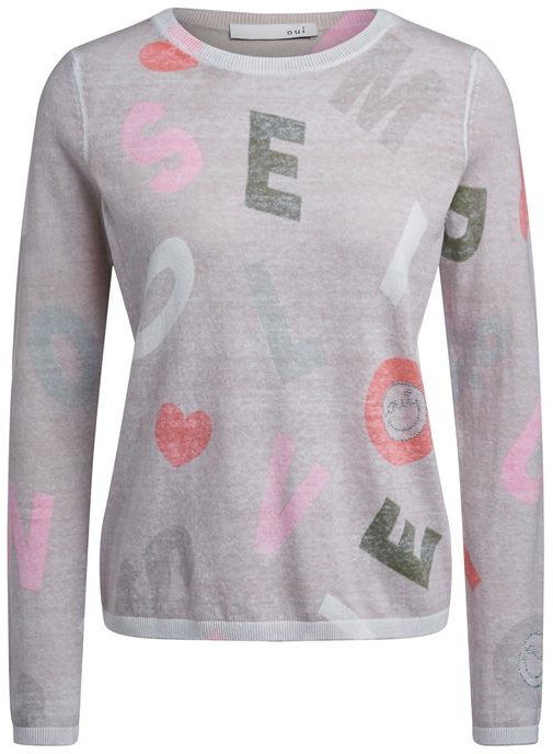 Oui Knitted Word Jumper