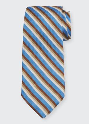 Isaia Men's Striped Cotton-Silk Tie