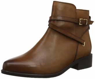 Dune London Dune Ladies Women's PEPER Low Block Heel Ankle Boots Size UK 4 Tan Flat Heel Ankle Boots