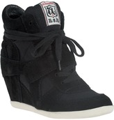 ASH Bowie Wedge Sneaker White/Black Suede