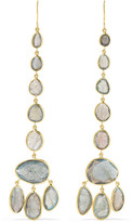Pippa Small 18-karat Gold Labradorite Earrings - one size