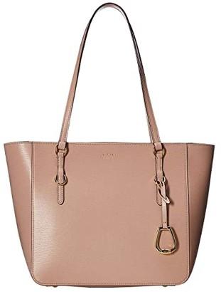 Lauren Ralph Lauren Bennington Saffiano Shopper (Mellow Pink) Shoulder Handbags
