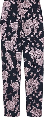 Mason by Michelle Mason Metallic Floral-jacquard Tapered Pants