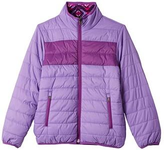 White Sierra Zephyr Insulated Reversible Jacket (Hyacinth Purple) Women's Coat