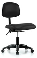 Task Chair Perch Chairs & Stools Upholstery Color: Black Fabric, Arms: Not Included