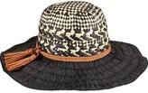 San Diego Hat Company Women's Mixed Paper Crown Ribbon Sun Brim Hat RBL4791