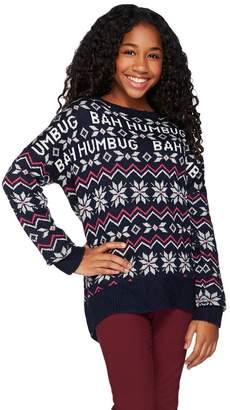 Aeropostale Bah Humbug Drop Shoulder Long Sleeve Holiday Sweater