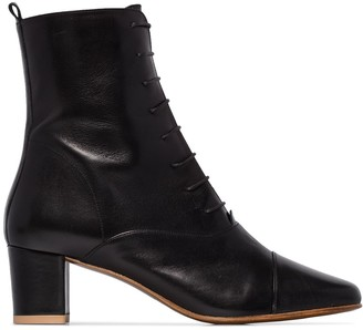 BY FAR Lada 50mm lace-up ankle boots