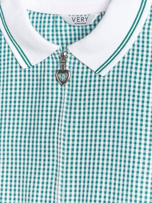 Very Girls 2 Pack Gingham School Playsuit - Green
