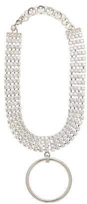 Alessandra Rich Crystal Ring-pendant Choker - Crystal