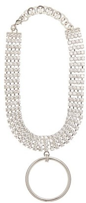 Alessandra Rich Crystal Ring Pendant Choker - Womens - Crystal
