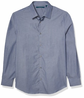 Perry Ellis Men's Thin Stripe Long Sleeve Button-Down Shirt